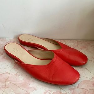 Everlane red leather Day Mule size 11